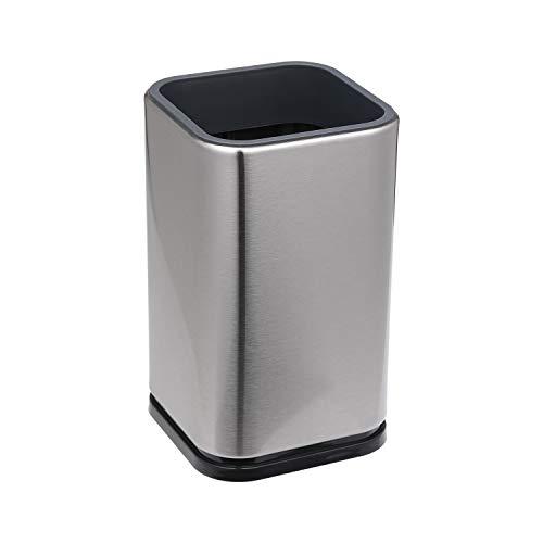 Utensil Holder Brushed Stainless, Good Grips Stainless Steel Utensil Holder, Fingerprint Resistant Kitchenware Holder, Detachable Kitchen Utensil Crock,External Size 4(L) x 4(W) x 6.7(H)