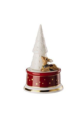 Hutschenreuther Sammelserie Weihnachtslieder-O Tannenbaum Spieluhr klein, Porzellan, Bunt, 12 x 11 x 18 cm