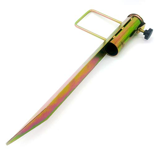Land-Haus-Shop® Rasendorn Sonnenschirmhalter/Schirm Halter/Metall/Wäschespinne Halter/Standfuß/Masthalter, Erdspieß Bodenhülse, verzinktes Stahlblech