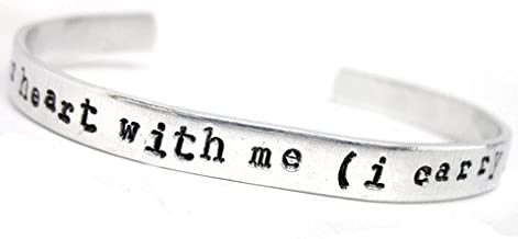 i carry your heart with me (i carry it in my heart) - Hand Stamped Bracelet