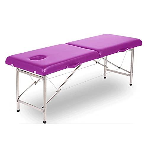 HuaBiao Massage Pliante – Table De Massage Mobile 2sections avec Pieds en Aluminium, Pliable Et...
