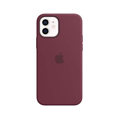 Apple SilikonCase mit MagSafe (für iPhone 12 | 12 Pro) - Pflaume