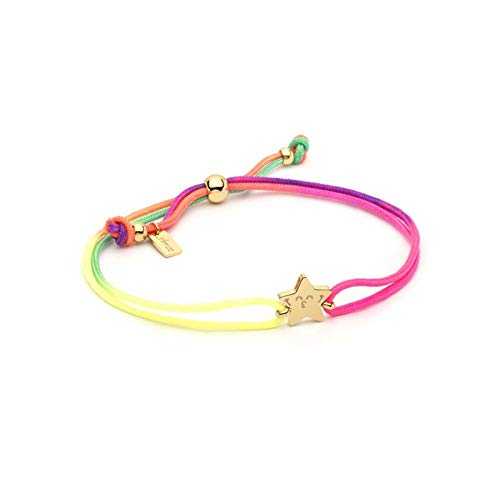 MR.WONDERFUL Pulsera Neon Estrella Acero INOX. IP Dorado