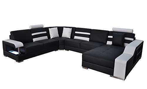 JVmoebel Eck Sofa Polster Sitz Leder Couch Sofas Couchen Garnitur U Form Wohnlandschaft