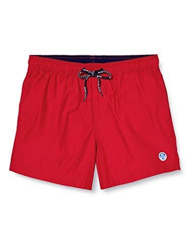 NORTH SAILS Volley W/Logo Pantalones Cortos, Rojo (Red 0230), Large (Talla del Fabricante: 34) para Hombre