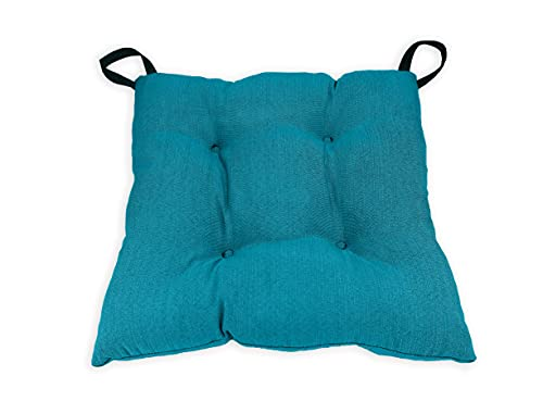 Cojines de Tela para Silla 45x45, Pack 2-6 uds. Asientos Acolchados y Cómodos para Interior y Exterior (Azul, 4)