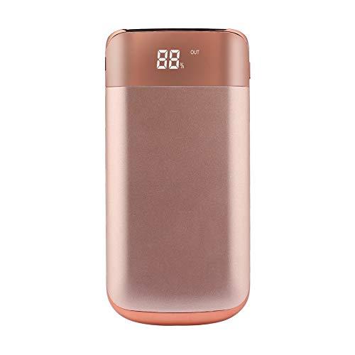 Pumprout Banco de energía Dual USB 8000mAh con Linterna LED Pantalla Digital LCD Cargador de batería Externo portátil para Tableta de teléfono