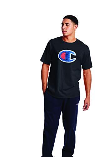 Champion Classic Graphic tee Camiseta, Color Negro, XXL para Hombre
