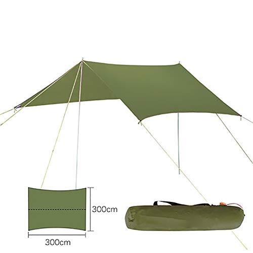 SHARESUN Camping luifel, ultra-lichte bescherming tegen de zon regendicht draagbare strand familie tent, outdoor pergola, voor camping picknick strand tuin, 300 * 300cm, met opbergtas