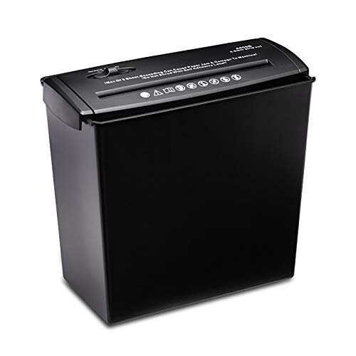 Mini trituradora de papel de escritorio, papel A4 pequeña Mini trituradora de papel de oficina, trituradora de tiras eléctrica doméstica, para protección contra el robo de datos