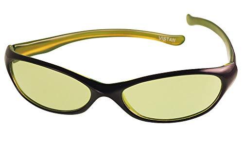 Vistan Sonnenbrille 400UV Sports Markenbrille schmal getönt grün lila Sportbrille grün