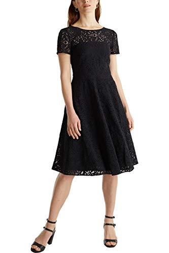 ESPRIT Collection Damen 040EO1E323 Kleid, 001/BLACK, 38