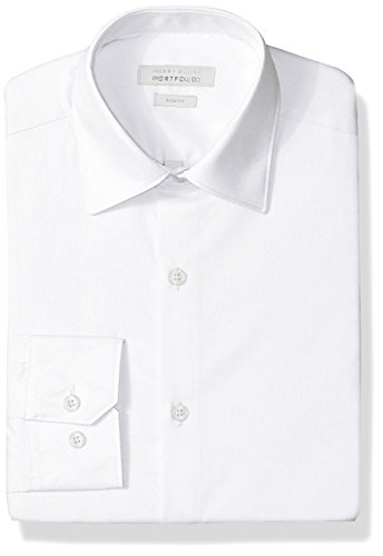 Perry Ellis mens Slim Fit Wrinkle Free Dress Shirt, White, 15.5 Neck 32 -33 Sleeve US