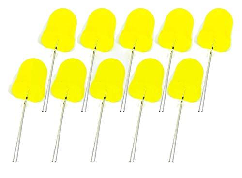 MissBirdler 10 Stück LED 10mm gelbe Farbe Riesen-LED diffus 20mA für Arduino Raspberry Pi basteln