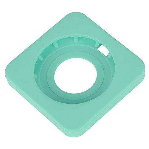 Base de silicona, funda protectora para cargador Diseño de borde redondo simple y hermoso para proteger el teléfono móvil y el cargador inalámbrico(green)