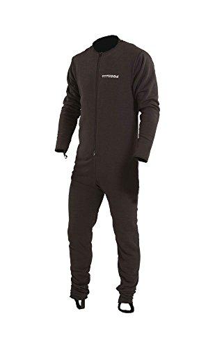 Typhoon Schwarzer Lightweight Underfleece für Drysuit - Drysuit Gewebe mit doppeltem Frontreißverschluss Drysuit Knöchel- und Drysuit
