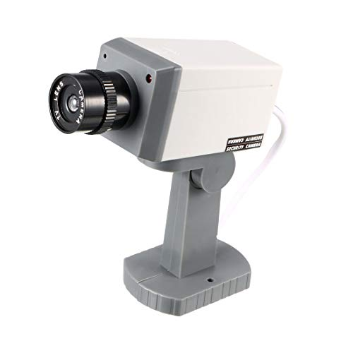 Learn More About uxcell Fake Security Camera Dummy Motion Detection System with Blinking Red LED War...
