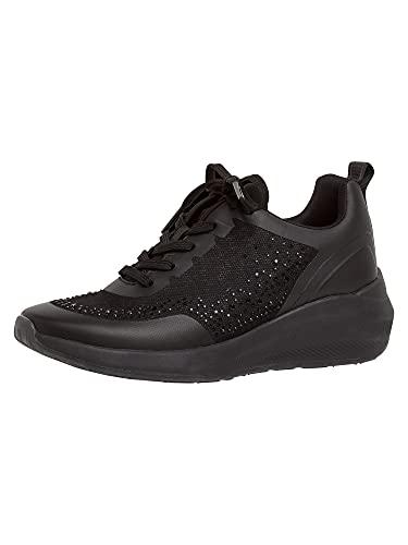 Tamaris Fashletics Damen Sneaker 1-1-23730-26 007 schwarz normal Größe: 39 EU