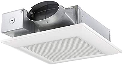 FV-0510VS1 WhisperValue DC Ventilation Fan with Pick-A-Flow Speed Selector, Low Profile, Extremely Quiet, Long Lasting, Easy to Install, Code Compliant, Energy Star Certified, White