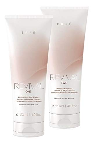 brae revival professional 120ml step 1 & 2 reconstruction hair treatment