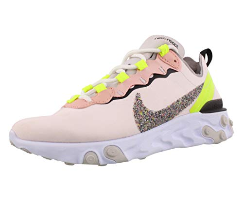 Nike W React Element 55 PRM, Chaussure de Course Femme, Light Soft Pink/Atmosphere Grey-Black, 40.5 EU