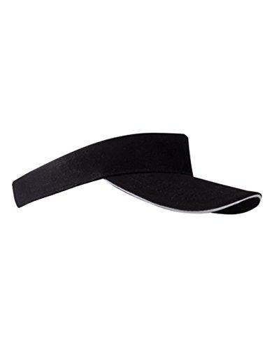 Textildruck Plauen Textildruck Plauen Sun Visor Cap Sandwich Sonnenblende Mütze Sport Kappe viele Farben (Black/White)