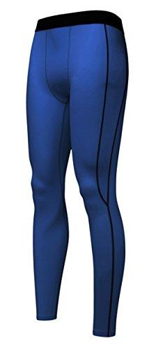 DD UP Fitness Yoga Running Sport Pantalons élasticité Compression Leggings À Rayures Homme