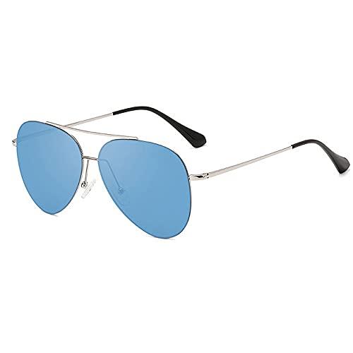 Gafas De Sol, Un Par De Gafas De Sol para Hombre Y Mujer, Una Variedad De Colores Disponibles, Gafas De Sol Polarizadas para Hombre Y Mujer, Gafas De Sol De Protección para Mujer. (Color : Blue)