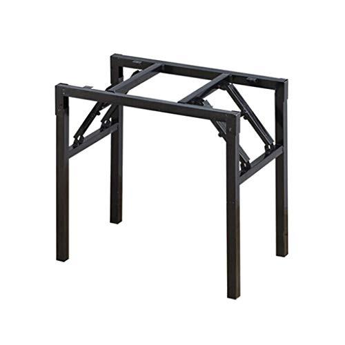 ZXL tafelpoot ijzer houder simpelweg klaptafel zwart 58 cm * 58 cm hoogte 70 cm veerpoot, eettafelstandaard klaptafelstandaard tafelsteunvoet