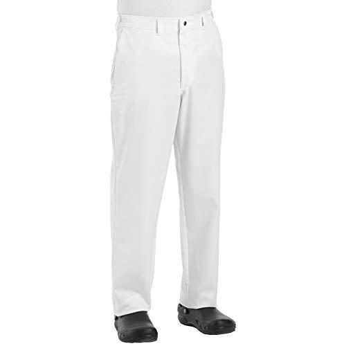Chef Designs Men's Chef Pant, White, 34W x 32L