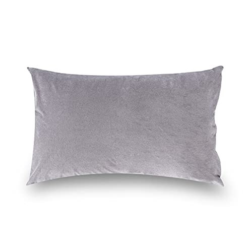 Wakefit Terry Cotton 200TC Pillow Protector, Standard (18 Inch x 28 Inch), Grey, 2 Piece