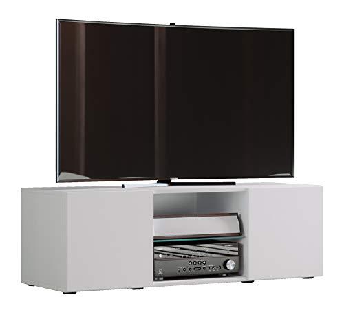 VCM TV Lowboard Fernseh Schrank Möbel Tisch Holz Sideboard Medien Rack Bank Weiß 40 x 115 x 36 cm