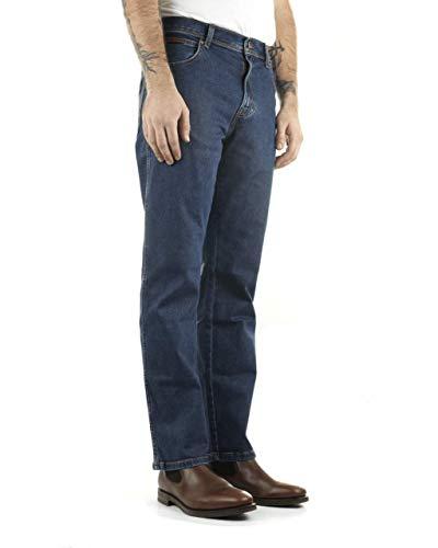 WRANGLER Herren Jeans TEXAS STRETCH Regular Fit, darkstone, 38/32