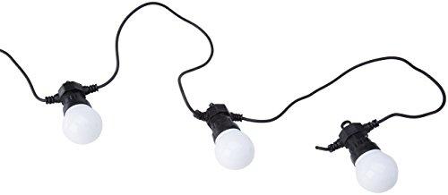 AUTOUR DE MINUIT 5EEX592 Guirlande Guinguette LED 20 Ampoules, Plastique, Bleu, Rouge, Jaune, Vert