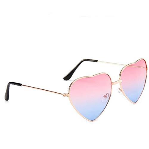 WFIT 1pc a Forma di Cuore della Montatura da Sole Sottile di Metallo Occhiali da Sole Trasparenti di Colore della Caramella Occhiali Chic Eyewear Fancy Regalo per Le Donne Ragazze