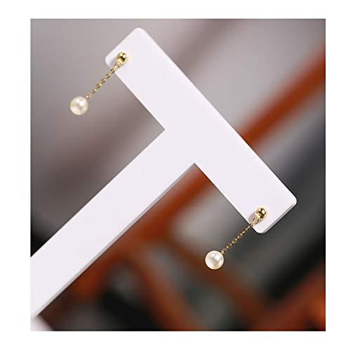 zunruishop Pendiente 4-4.5mm Pendientes de Perlas de Agua de mar 18k Pendientes de Regalos, Tres tamaños Disponibles Pendiente de cartílago (Size : 5-5.5mm)