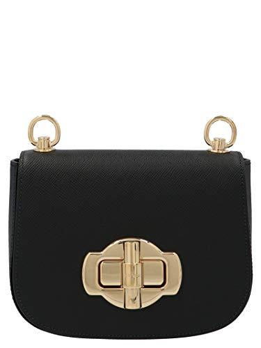 Luxury Fashion | Prada Dames 1BD239VOLO2A4AF0002 Zwart Leer Schoudertassen | Lente-zomer 20