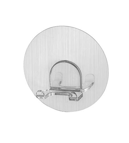 WENKO 21934100 Static-Loc Wandhaken Duo Osimo, Befestigen ohne Bohren, Polyethylenterephthalat, 8 x 3.5cm 8kg max, Chrom
