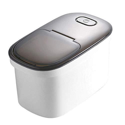 woyaochudan Recipiente de Almacenamiento de arroz de 10 kg, Caja de Almacenamiento de Granos, Recipiente de harina para Alimentos con Taza medidora, Caja de Almacenamiento de arroz de Cocina