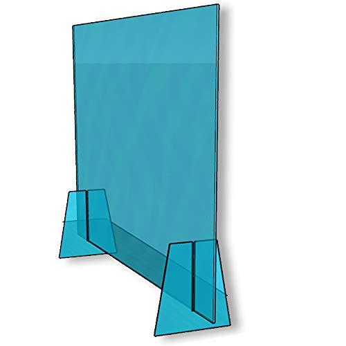 CamCarolo Meubelbescherming, inkijkbescherming voor tafel of bureau, scheidingswand van plexiglas met doorvoeropening, 100 x 70 cm