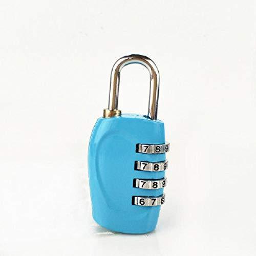Zylinderschloss mit 4 Ziffern, Zahlenschloss für Koffer, Gepäck, Metall, Code, Kennwortschloss, blau