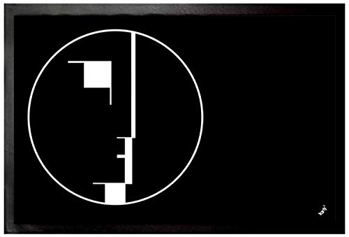 1art1 Oskar Schlemmer - Staatliches Bauhaus, Logo, 1922 Fußmatte Innenbereich und Außenbereich | Design Türmatte 60 x 40 cm