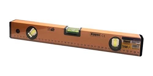 kippen 3019B2 Livella in Alluminio a 3 Bolle da 40 cm. con Base Fresata e Scala metrica