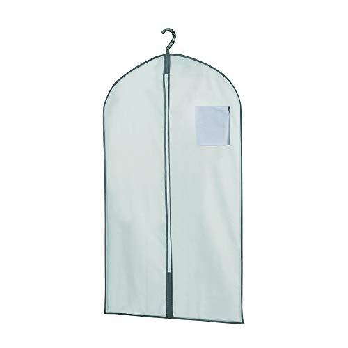 COMPACTOR Housse Courte pour Vêtements, Fermeture Zippée Anti-Poussière, Blanc, 60 x H. 100 cm, RAN630
