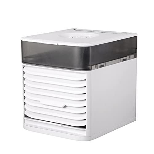 Funien Refrigerador de Aire portátil Mini acondicionador de Aire con Sistema de esterilización UV Humidificador de Aire de Escritorio Personal con Filtro para purificación de Aire Ventilador pequeño