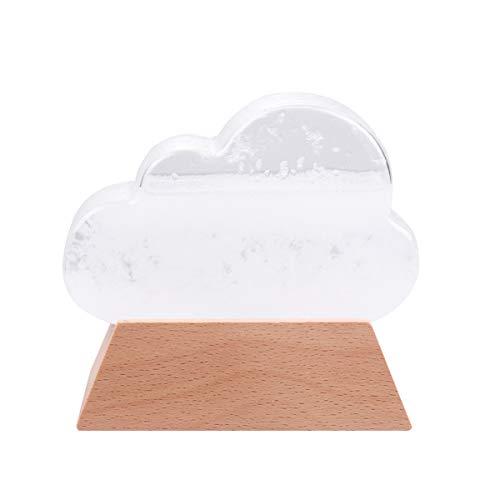 Garrafa de vidro Besportble Weather Stormble, estação meteorológica, previsão, barômetro, decoração de mesa, ornamento de nuvem