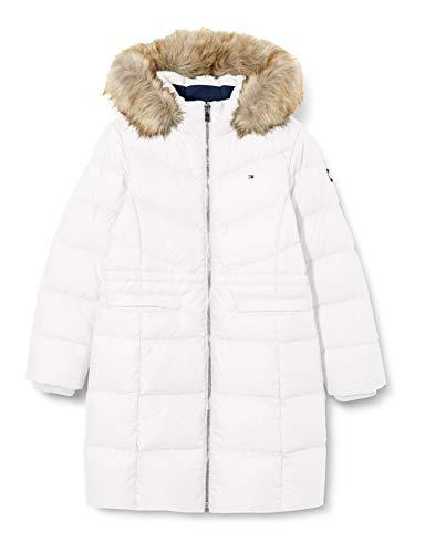 Tommy Hilfiger TD Alana Down Coat Long Jacket, White, 6 Fille