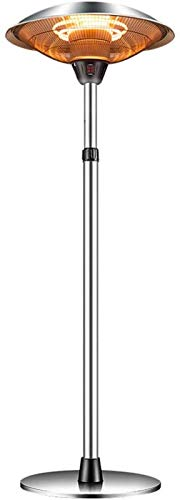 Calentador eléctrico tipo paraguas pie, calentador patio exterior, 3 configuraciones calor para...