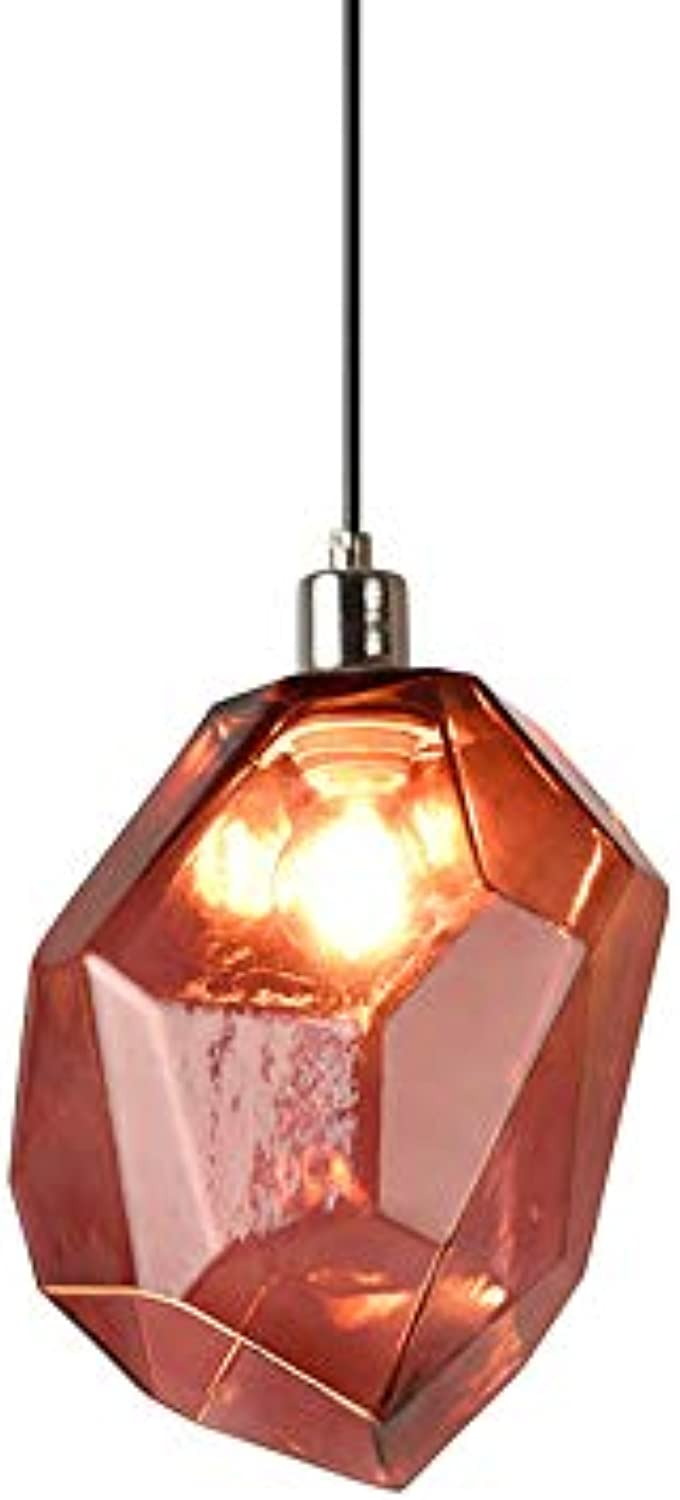 AMZ BCS Kreative LED Heterotype Stone Droplight Ice Cube Crystal Glass Lamp Living Room Restaurant Bar Counter Cafe Chandelier Persnlichkeit MultiFarbe Indoor Lighting Light