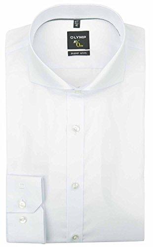 OLYMP Herren Hemd No. 6 Super Slim Fit Langarm Weiss (10) 36